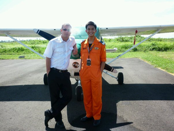 After 1st solo Flight with Capt. John Mellor